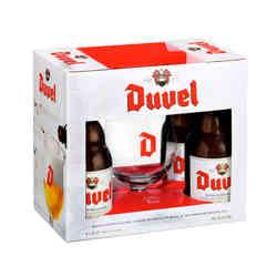 KIT DUVEL: 4x Cervezas Duvel en Botella 330cc + Copa