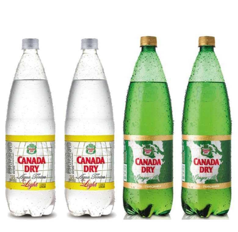 2x Canda Dry Agua Tónica 1.5 lts. + 2x Canada Dry Ginger Ale 1.5 lts.