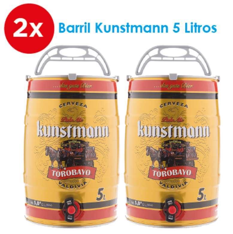 2x Barril Cerveza Kunstmann Torobayo 5 Litros