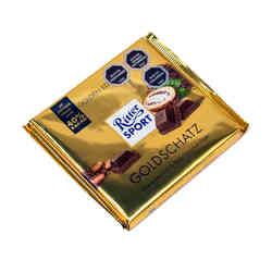 Barra Chocolate Ritter Sport Leche Gold Edition 250 grs.