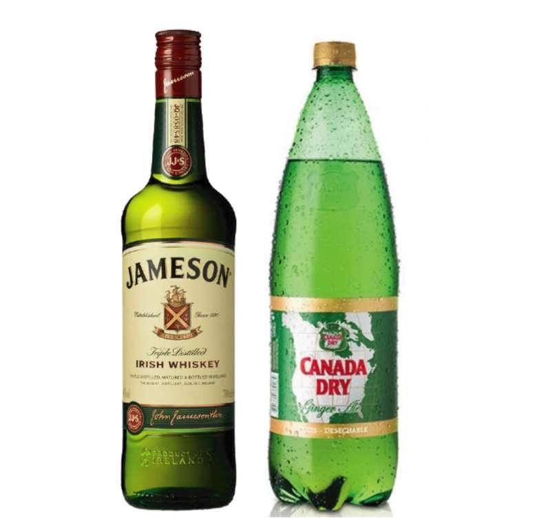 Whisky Jameson Irish Standard 40º 750cc + Canada Dry Ginger Ale 1.5 lts.