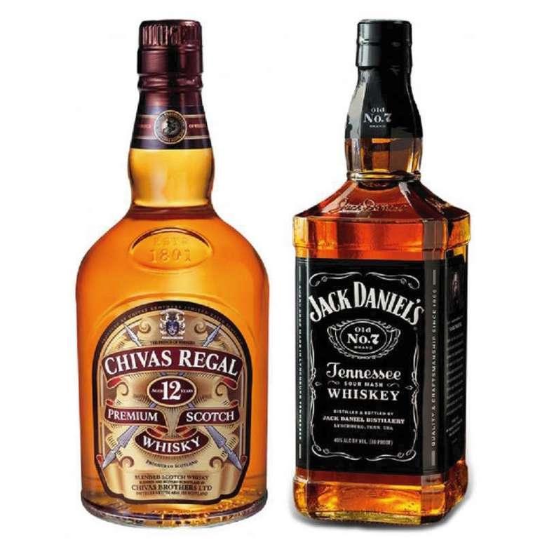 PACK CHIVAS JACK: Whisky Chivas Regal 12 años 750cc + Whiskey Jack Daniels N7 750cc