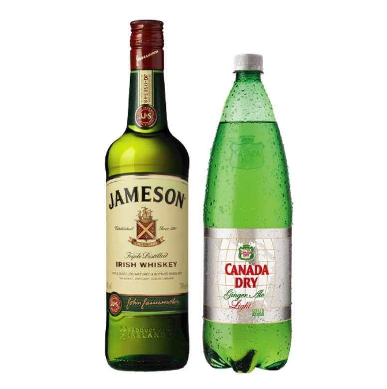 Whisky Jameson Irish Standard 40º 750cc + Canada Dry Ginger Ale Light 1.5 lts.