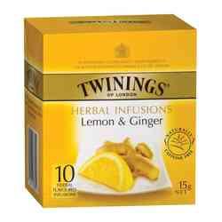Té Twinings Limón y Jengibre 10 Bolsitas
