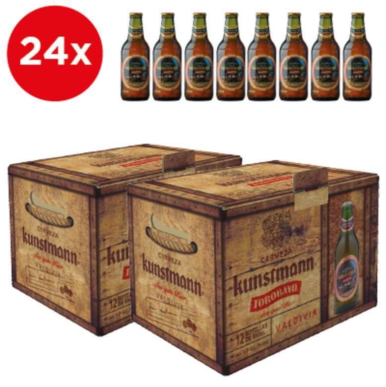 2x Pack de 12 Cervezas Kunstmann Torobayo en Botellas 330cc