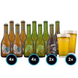 KIT LA MONTAÑA Nº3: 10x Cervezas la Montaña + 2x Vasos La Montaña