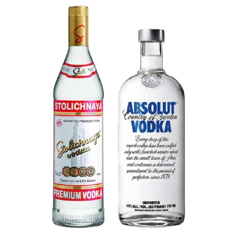 Vodka Stolichnaya 750cc + Vodka Absolut Blue 750cc