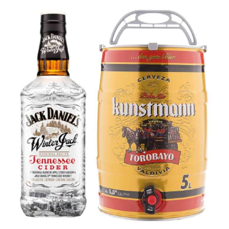 Jack Daniels Winter Cider 750cc + Barril Kunstmann 5 Litros